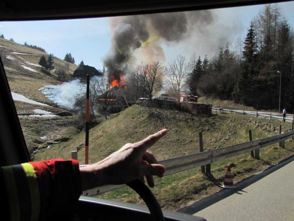 Brandeinsatz - B4 vom 28.03.2012     Feuerwehr Kirchzarten (2012)